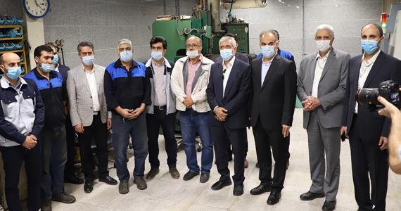 بازدید نایب رئیس هیئت مدیره هلدینگ پدیده شیمی پایدار از کارخانه سپهرپلاستیک پدیده